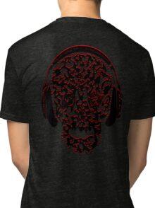 °ღ♫Cool Vintage Feel Skull Listening to Music Clothing & Stickers♪ღ° Tri-blend T-Shirt