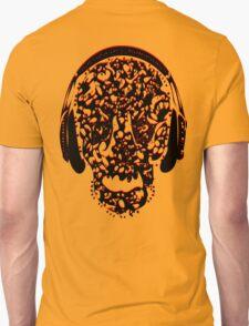 °ღ♫Cool Vintage Feel Skull Listening to Music Clothing & Stickers♪ღ° T-Shirt