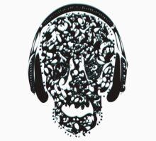 °ღ♫Cool Vintage Feel Skull Listening to Music Clothing & Stickers♪ღ° by Fantabulous
