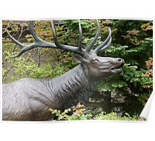 The Elk at the Forestry Center Poster