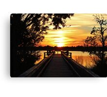 Disappearing Sun Canvas Print