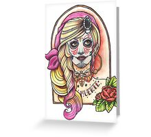 Miss Muerte Greeting Card