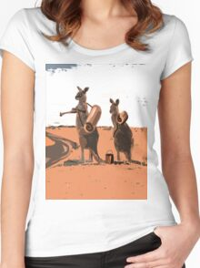 AUSSIE BACKPACKERS  Women's Fitted Scoop T-Shirt