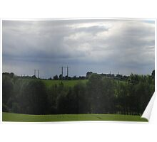 Country side. Spring time. Hedmark, Norway. Poster