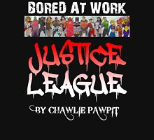 Justice League on Black Men's Baseball ¾ T-Shirt