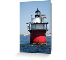 Bug Light in Plymouth Greeting Card