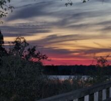 Sundown At The River Sticker