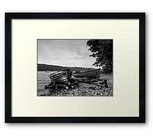 Beached on Loch's edge.  Framed Print