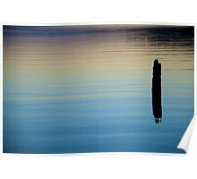 Coeur d'Alene lake at dusk Poster