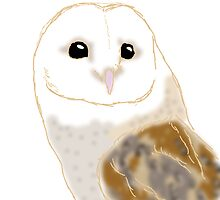 Barn Owl Freehand Illustration by KidKime