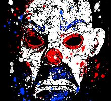 Goon Bank Robber Mask digital splatter by justin13art