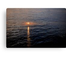 Sunset in Water Canvas Print