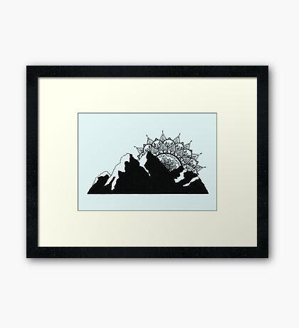 Mountain Mandala Framed Print