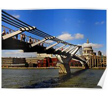 One Day In London : Crossing The Thames Poster