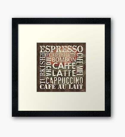 Coffee of the Day 2 Framed Print