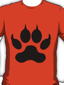 Black Wolf Paw Print T-Shirt