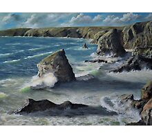 Bedruthan High Water Photographic Print