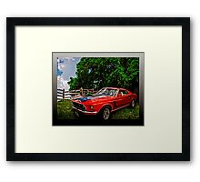 Mach 1 Ford Mustang Traveled from 1969 to the World of Tomorrow Framed Print