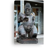 Maori Sculptured Wood Carving Canvas Print