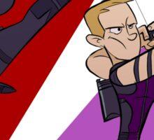 Black Widow & Hawkeye Sticker