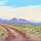 Road Toward Wind Mountain by EllieTaylorArt