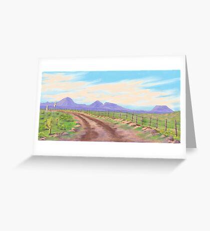 Road Toward Wind Mountain Greeting Card