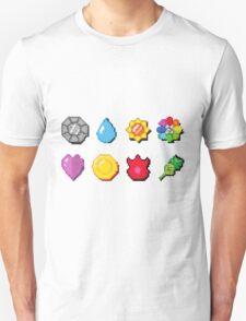 8 bit Pokemon Badges T-Shirt