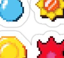 8 bit Pokemon Badges Sticker