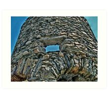 Looking Through A Window of the Old Stone Mill Art Print