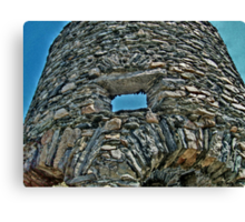 Looking Through A Window of the Old Stone Mill Canvas Print