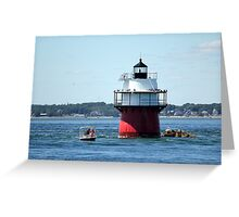 Spruced Up Bug Light Greeting Card