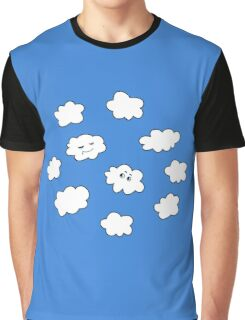 Blue Sky Happy Funny Clouds  Graphic T-Shirt
