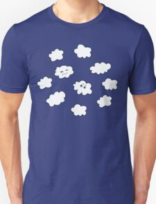 Blue Sky Happy Funny Clouds  Unisex T-Shirt