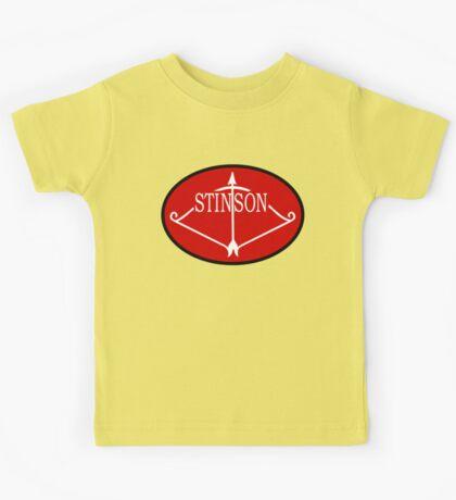 Stinson Aircraft Company Logo Kids Tee