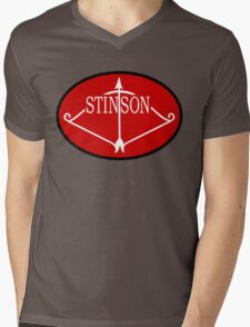 Stinson Aircraft Company Logo Mens V-Neck T-Shirt