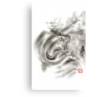 Wind dragons sumi-e ink painting dragons art Metal Print