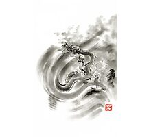 Wind dragons sumi-e ink painting dragons art Photographic Print