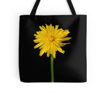 Single flower on black Tote Bag