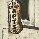 Sir Palmer Rusty Vintage Sign by Honey Malek