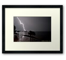 Spectacular Lightning Bolt Framed Print