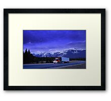 Semi Trailer Truck Framed Print