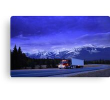 Semi Trailer Truck Canvas Print