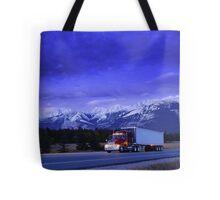Semi Trailer Truck Tote Bag