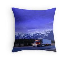Semi Trailer Truck Throw Pillow