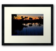 Bottomless Reflections Framed Print