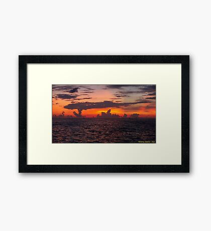 Clouds In Colorful After Glow Framed Print