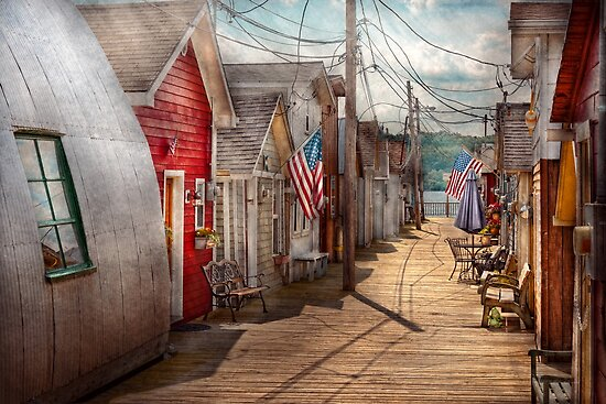 City - Canandaigua, NY - Shanty town  by Mike  Savad