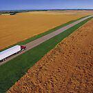 Truck Driving Through the Countryside by printscapes