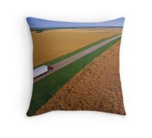 Truck Driving Through the Countryside Throw Pillow