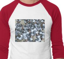 Copper and Chrome Smart Art - FredPereiraStudios.com_Page_05 Men's Baseball ¾ T-Shirt